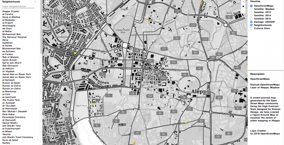 The Conflict Urbanism: Aleppo interface