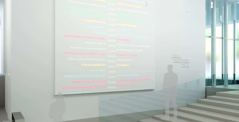 Media Channel: An interactive display wall for social media data.